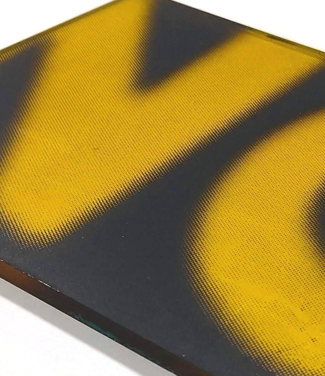"NO  detail  Silkscreen on acrylic sheet  5x7.5x.25"""
