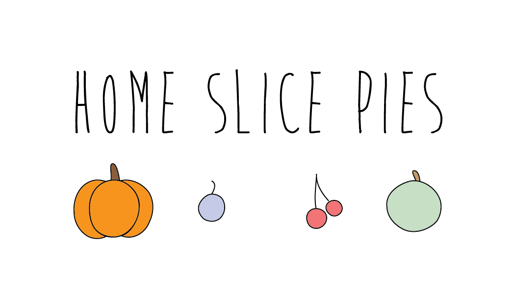 Welcome to Home Slice Pies!  We specialize in fresh fruit pies that we make from scratch in our little cabin in the woods. We have all your favorite seasonal varieties as well!  We buy organic and local ingredients as often as possible. All of our crusts and fillings have just a few simple ingredients. Nothing fancy or overly complicated – pie as it should be!