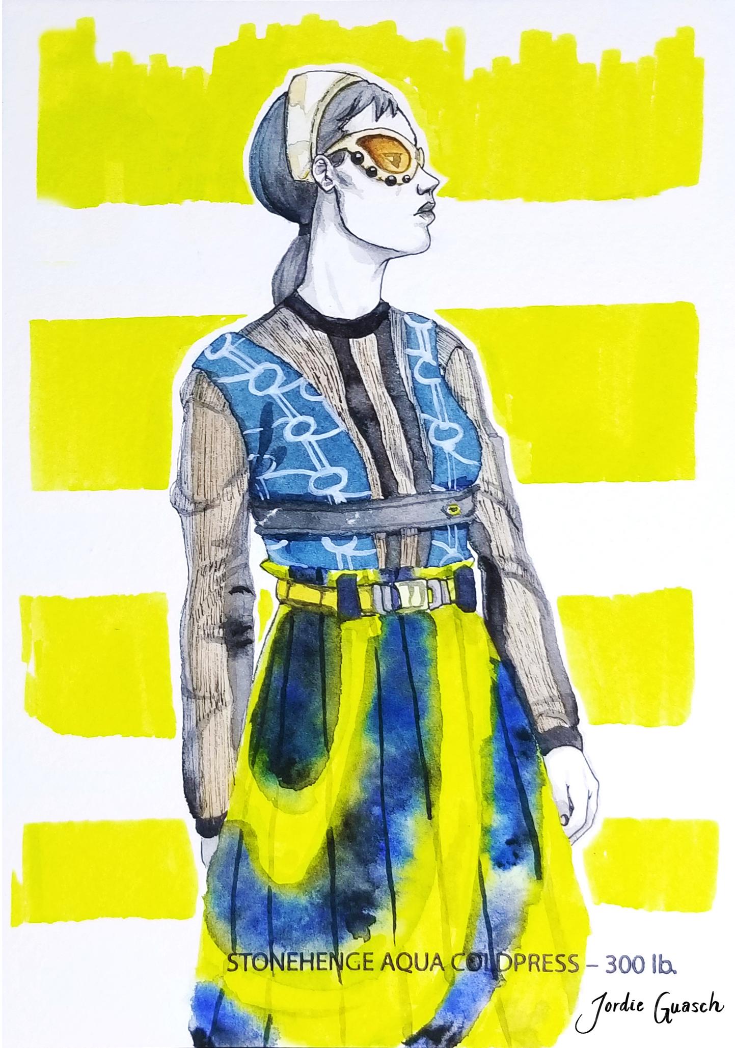 7. Prada, Watercolors
