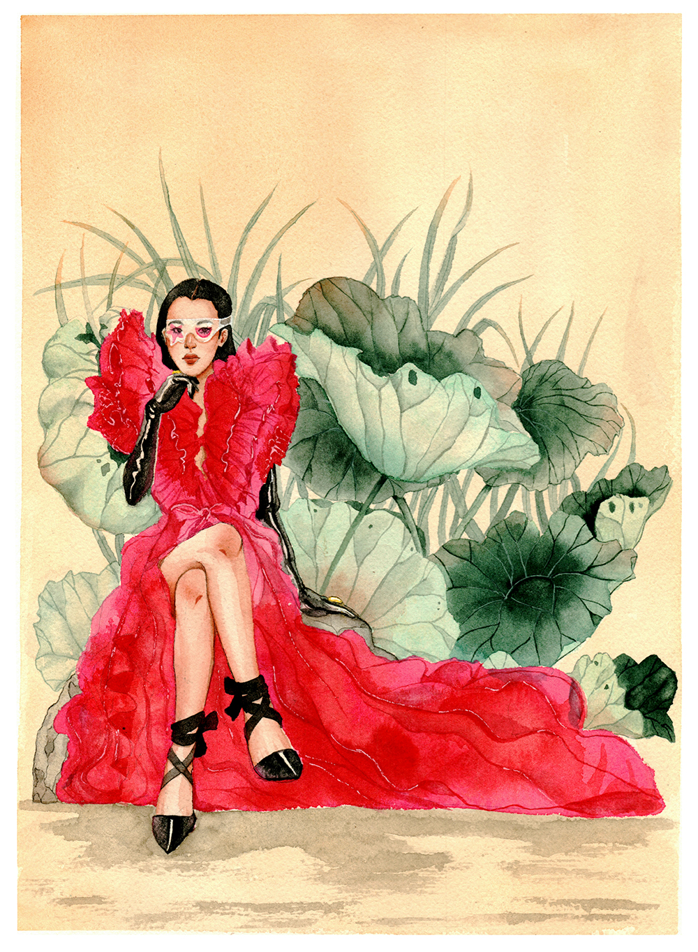 Schiaparelli and Lotus Leaves