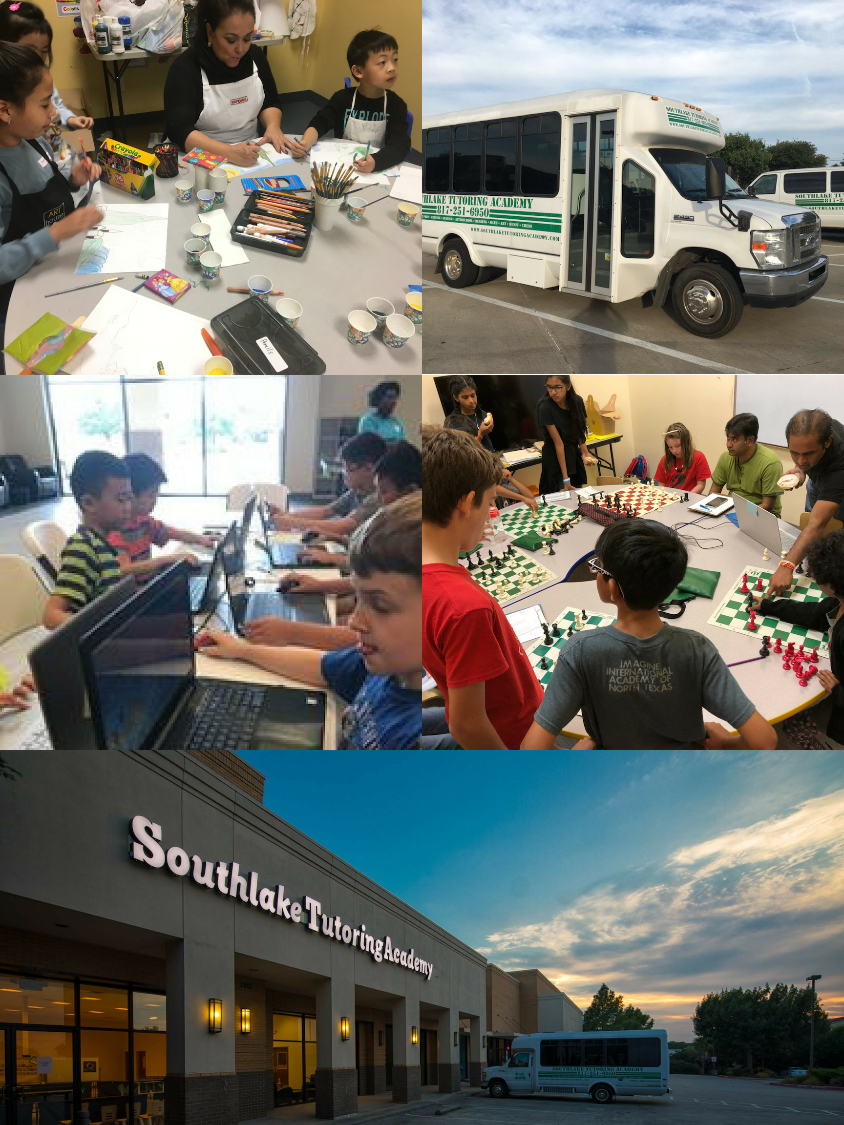 AFTER SCHOOL PROGRAM - wE PICK UP FROM JUST ABOUT EVERY ELEMENTARY AND INTERMEDIATE SCHOOL IN SOUTHLAKE.