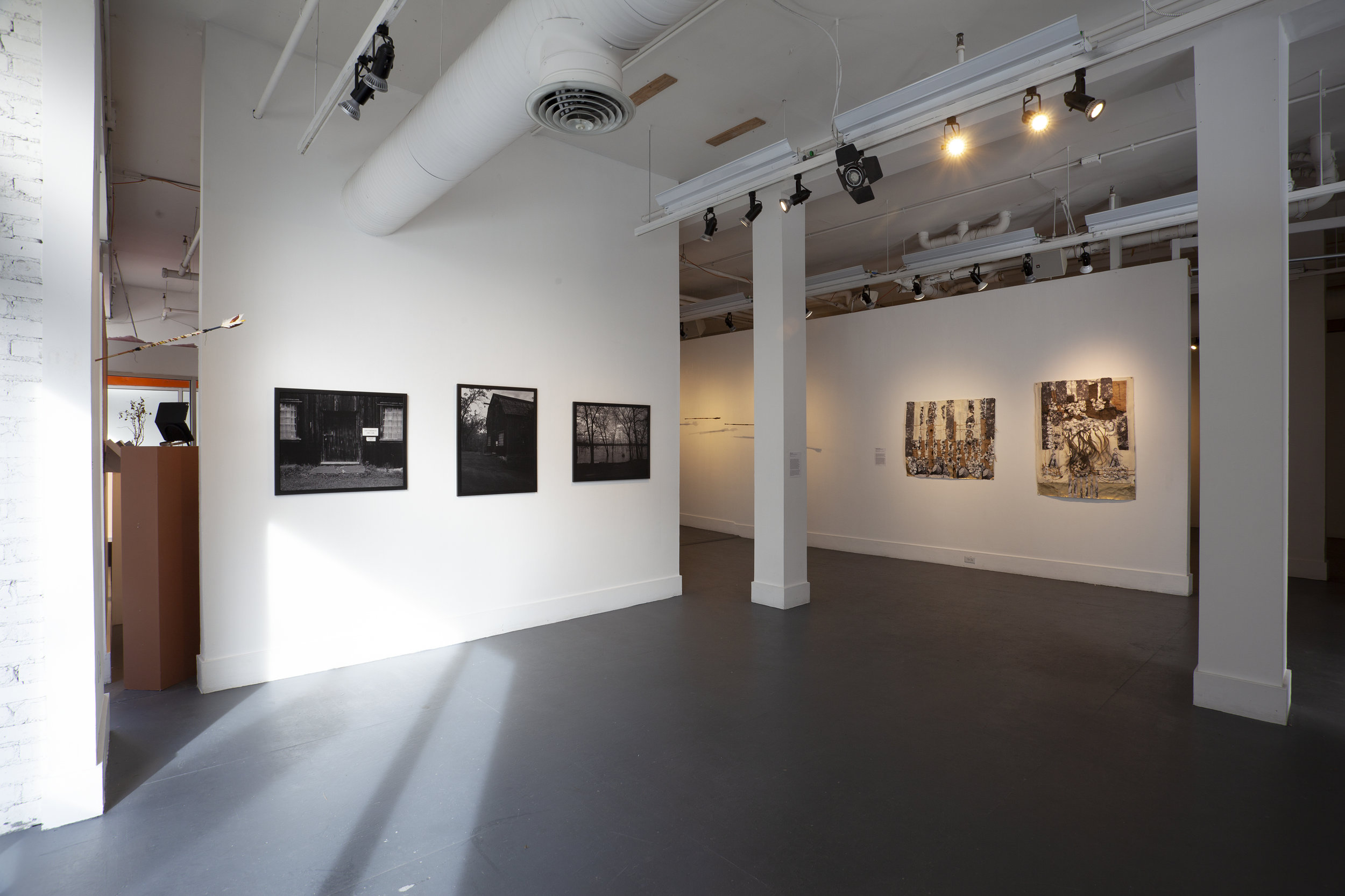 From the exhibition,  In Plain Sight/Site.  Photographer: Jessica Smolinksi. Left to Right: James Montford, Nate Lerner, and Kimberly Becoat.