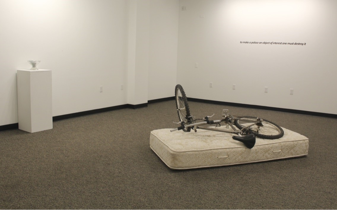 Installation View,  Silence Like Lasagna , Middlesex Community College. Photo courtesy of the artist.