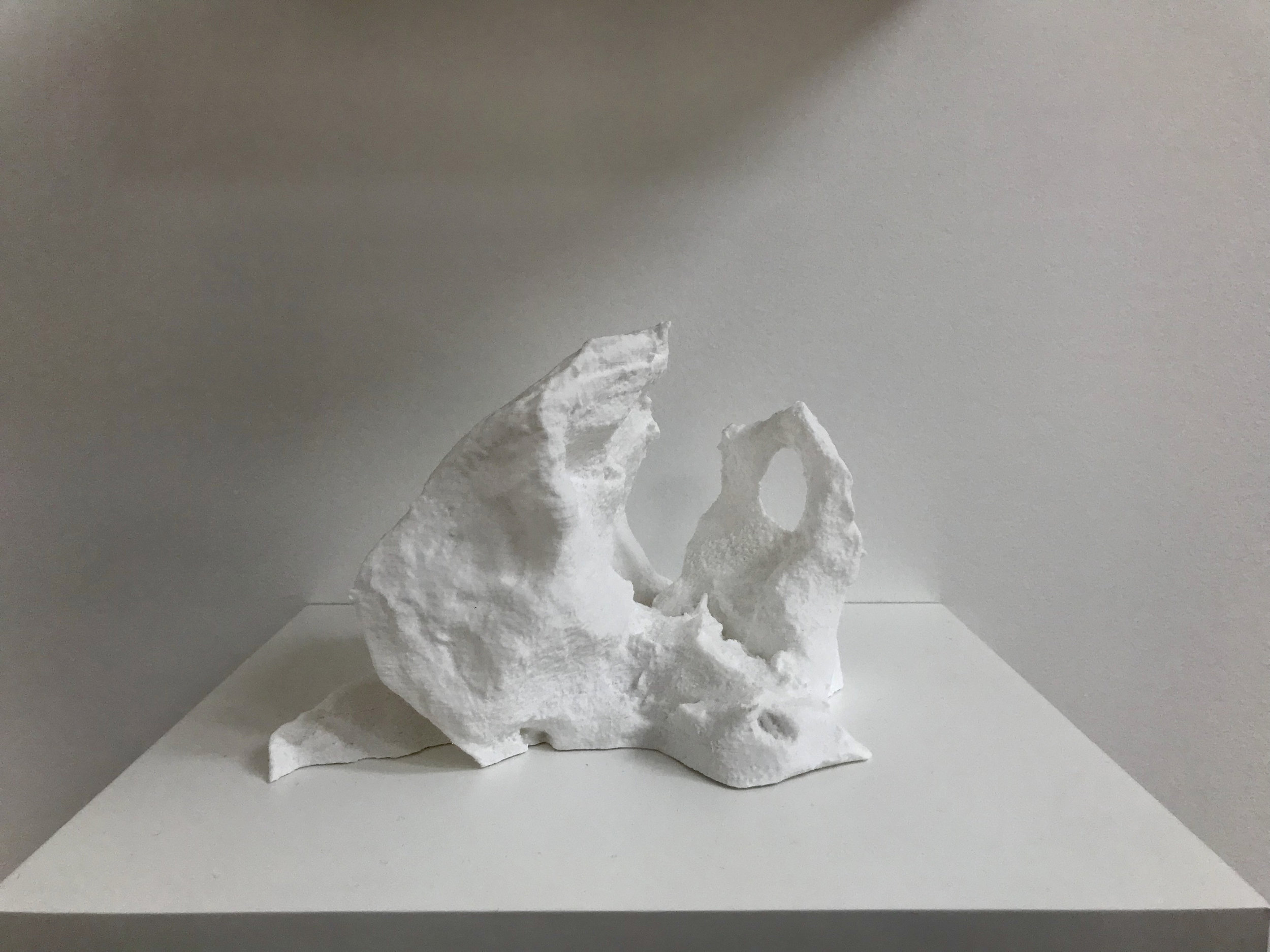 Joseph Smolinski,  Lost Monuments , 2018. 3D scanned melted snow piles, 3D printed in plastic.