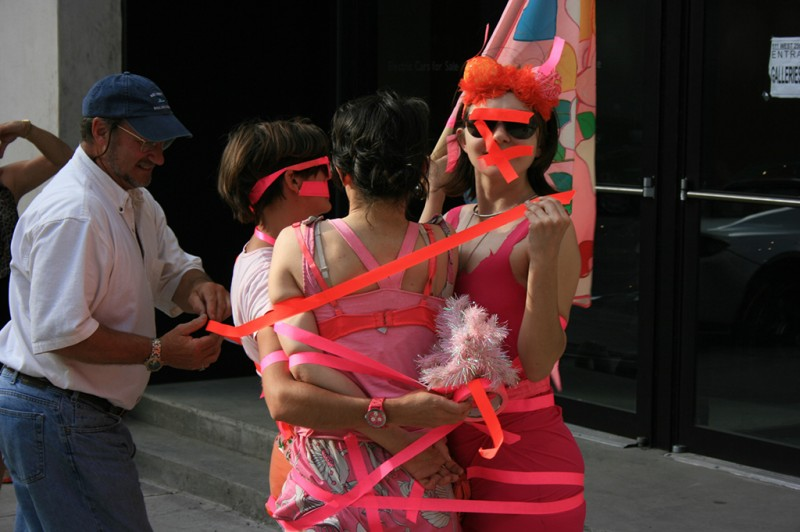Go! Push Pops.  Taped , a visit to Portia Munson's Pink Project, PPOW Gallery, New York, 2010. Courtesy the artists. © Go! Push Pops