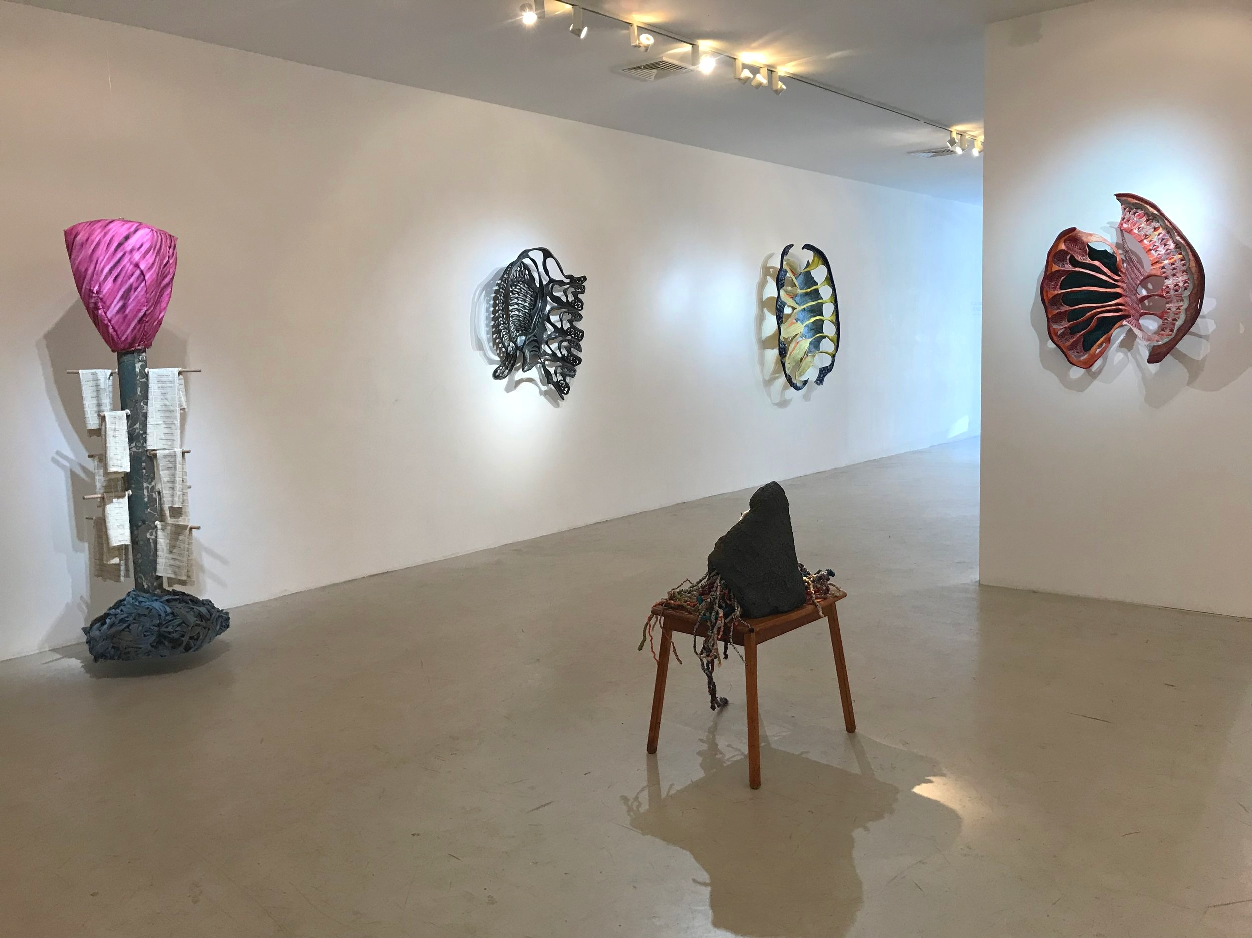 Installation view.  Becca Lowry & Jane Miller  at Fred Giampietro Gallery, April 2019. Image: J. Gleisner.