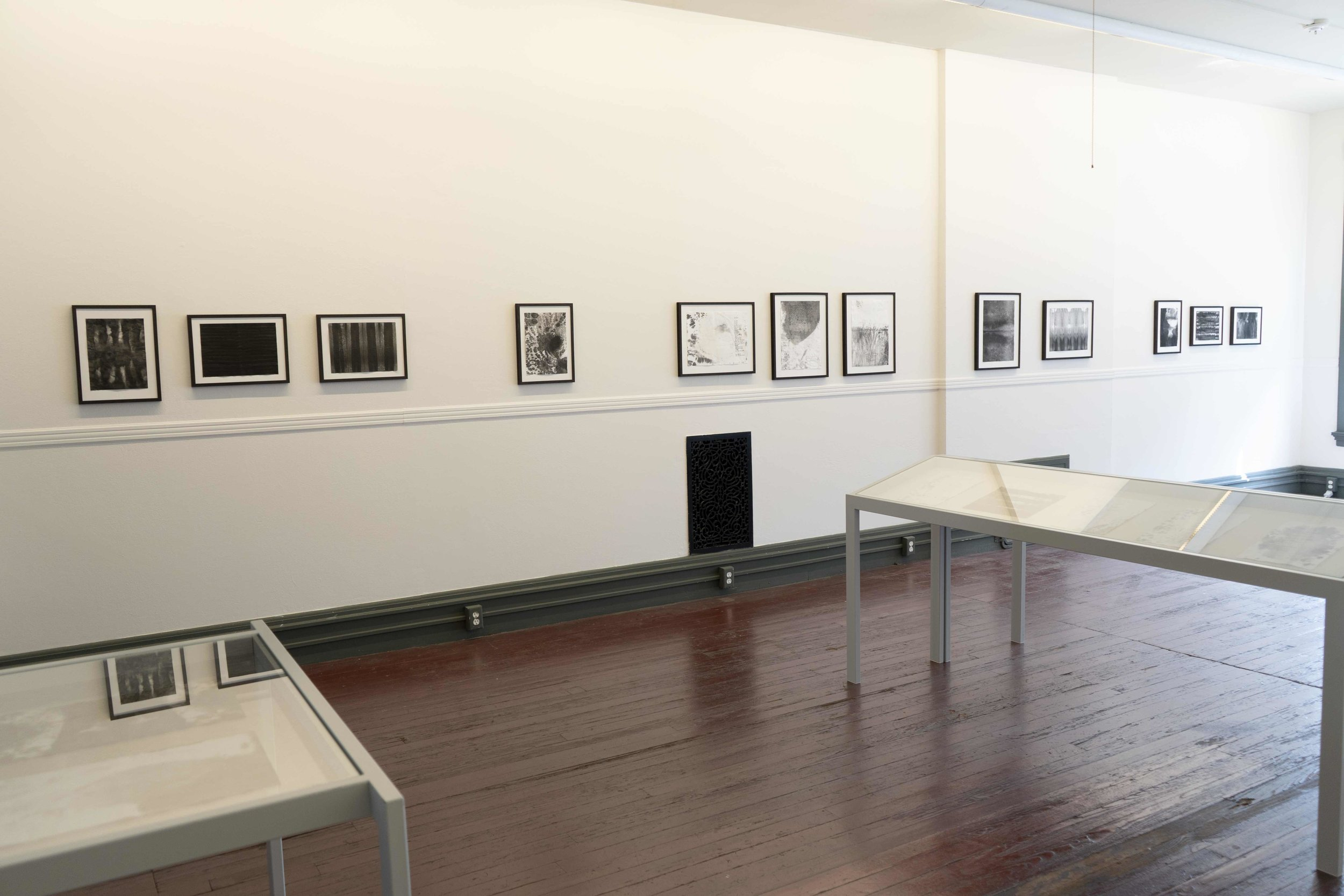 Installation photo from  A Blue Dark  at the Institute Library, New Haven, 2019 (photo © Fritz Horstman)