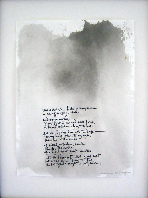 Chiaroscuro, 2 a.m.  (2019). Ink and washi, Fiona Sze-Lorrain and Fritz Horstman. (photo© Sze-Lorrain)