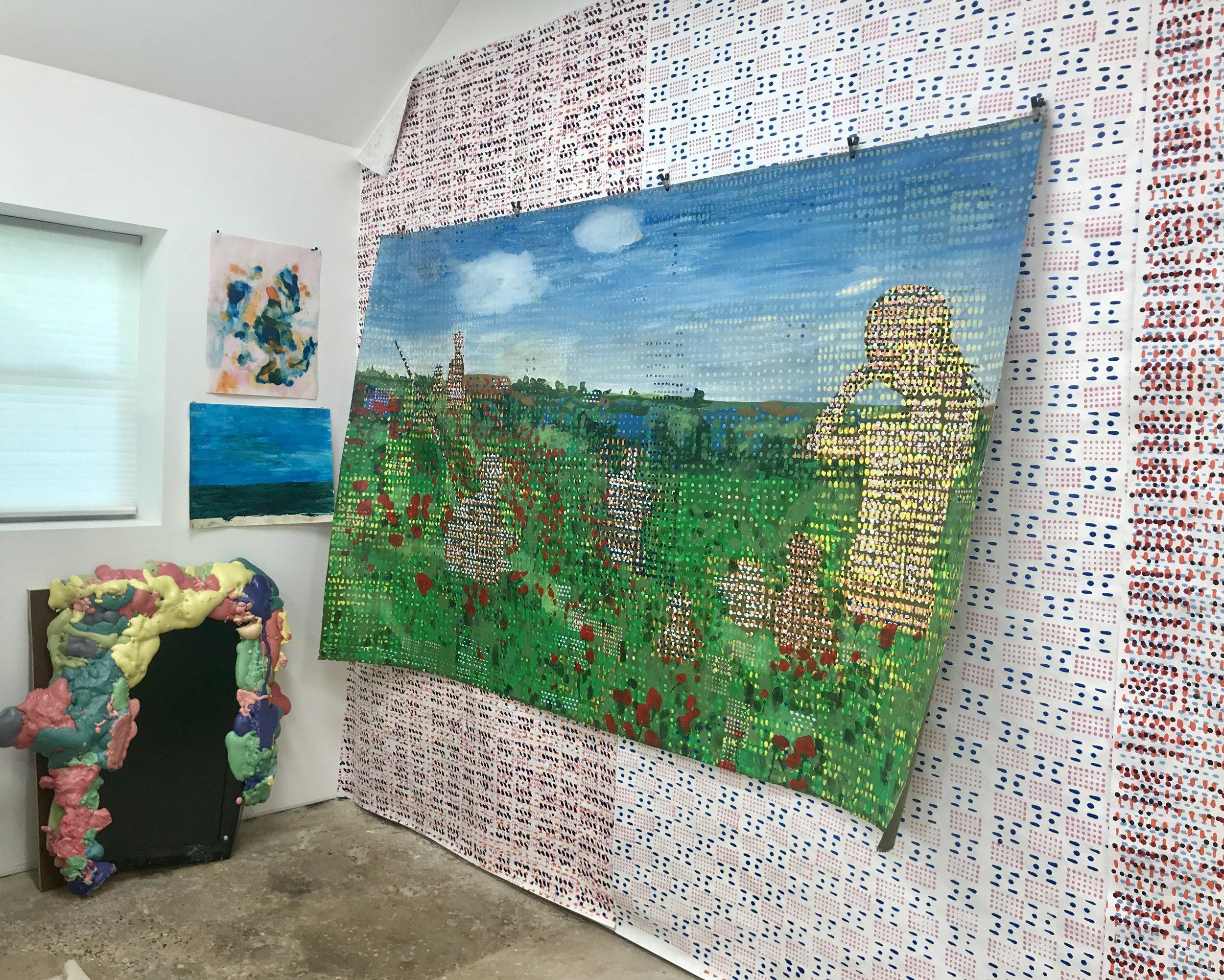 Jeff Ostergren's New Haven studio, July 24, 2019. Photo: J. Gleisner