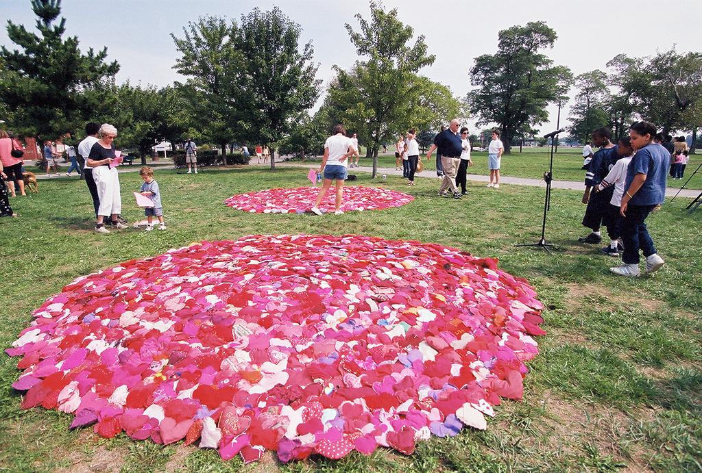 June Ahrens,  The Healing Hearts Project . Battery Park City, New York, NY.