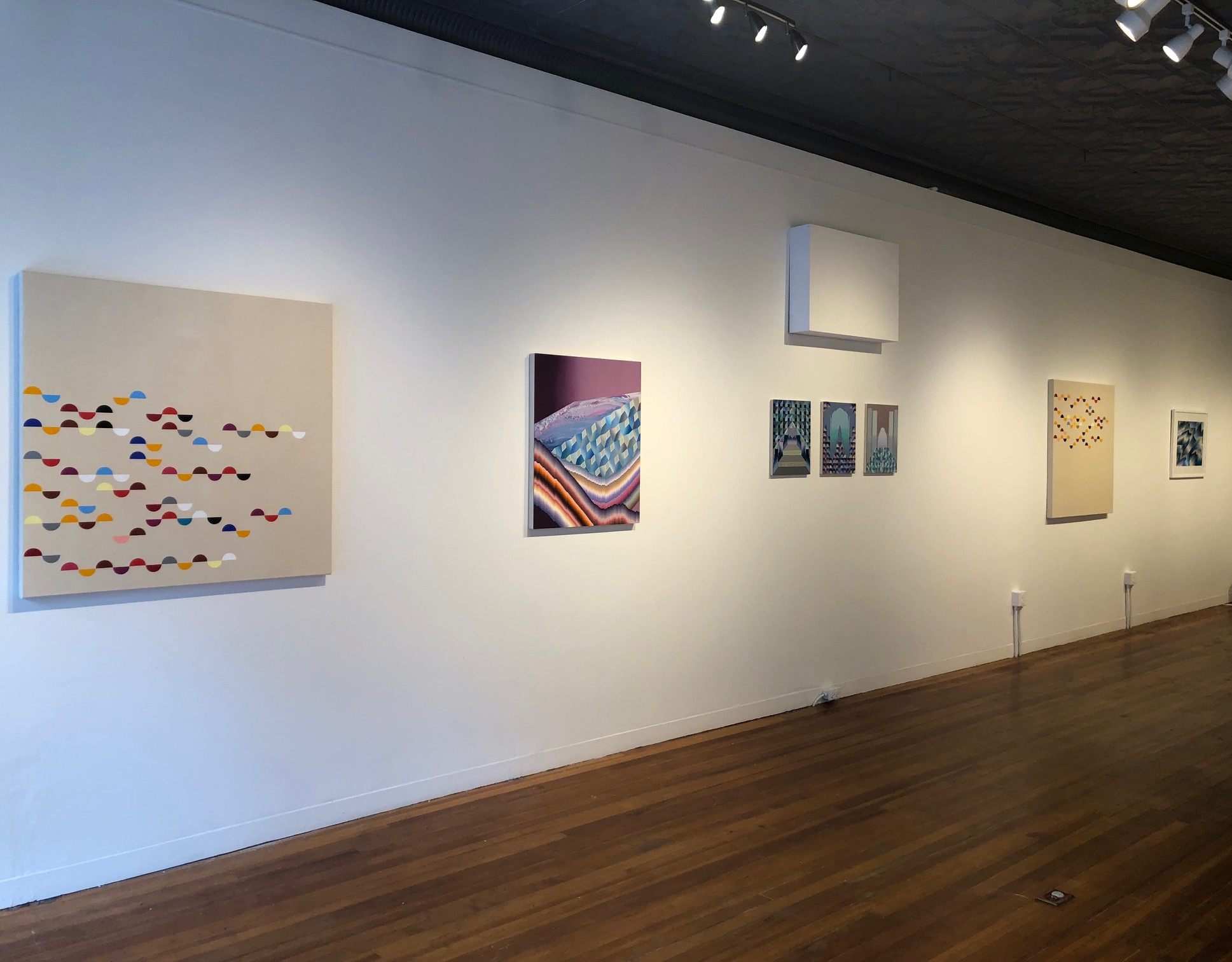 Installation view of  The Smooth & the Striated . Photo: R. Hellerich.