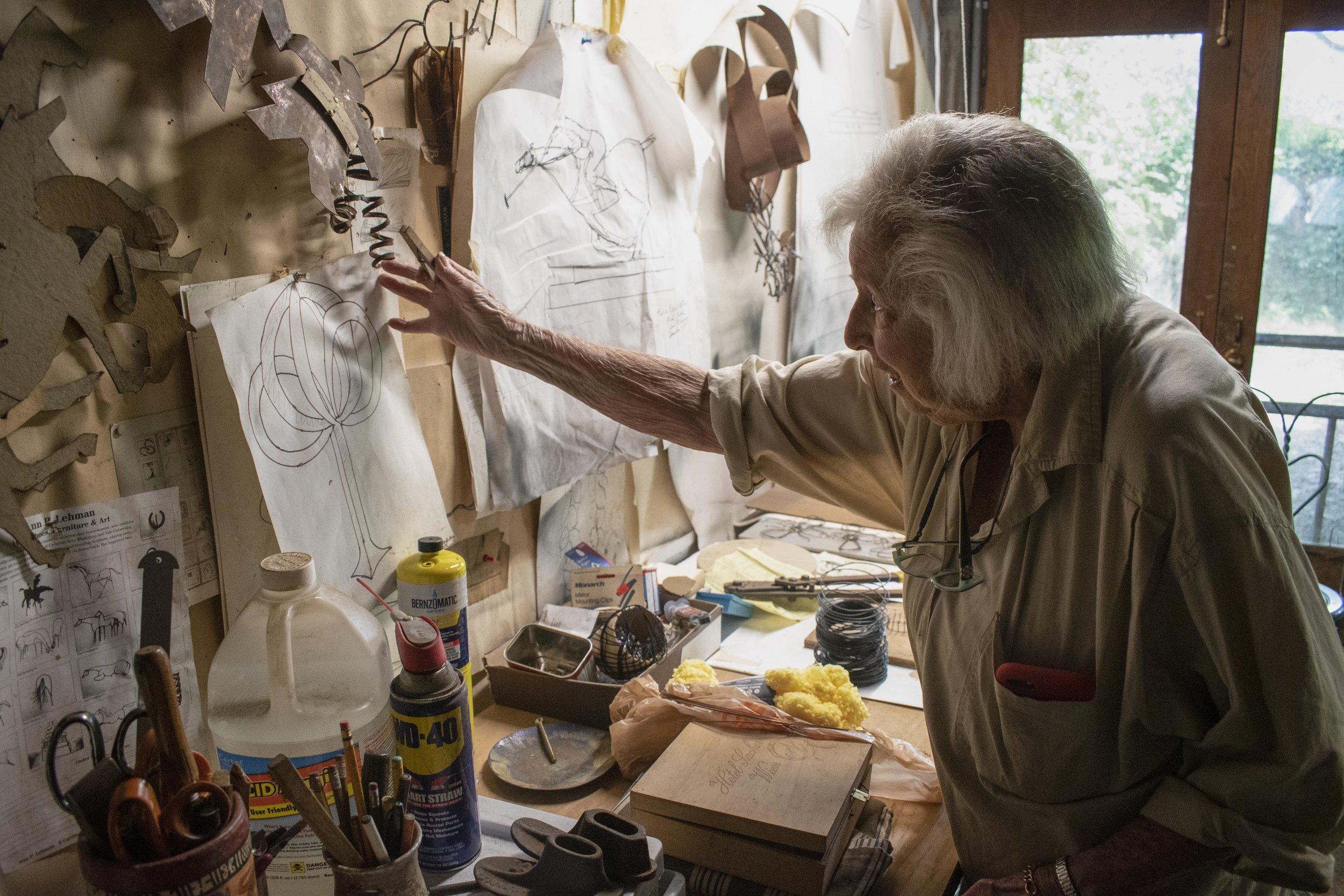 Ann Lehman inside her studio. Photo: J. Gleisner.