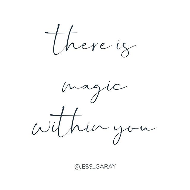 There is magic within you. ✨✨✨ Tag someone who needs this message today xo . . . #shineyourtruth #bravery #womeninbusiness #personaldevelopment #shineyourtruthcommunity #movement #empowerment #girlboss #impact #community #passion #profit #purpose #brenebrown #risingstrong #rachelhollis #powerful #empower