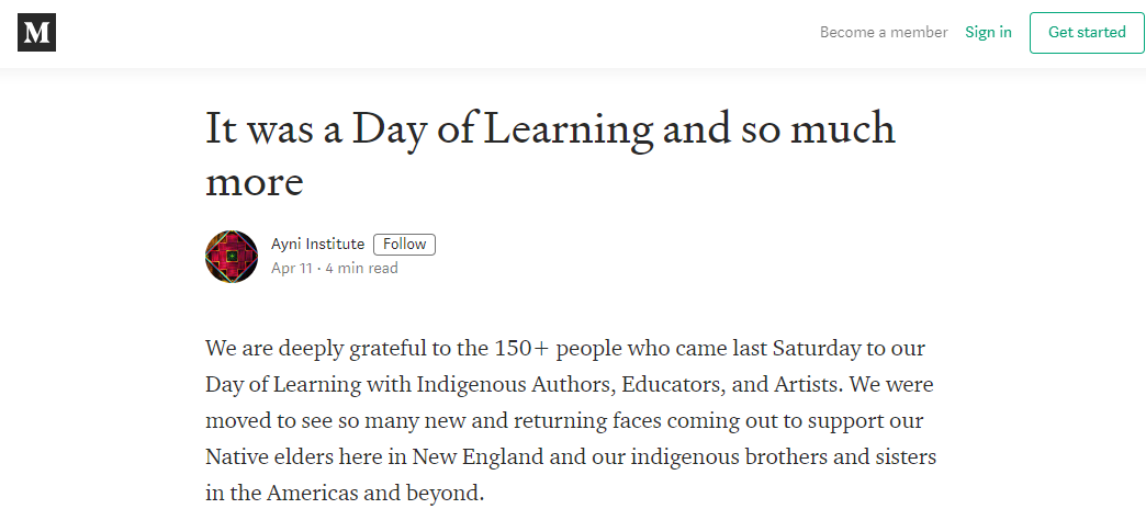 Click the image to visit our Medium article on the Day of Learning.