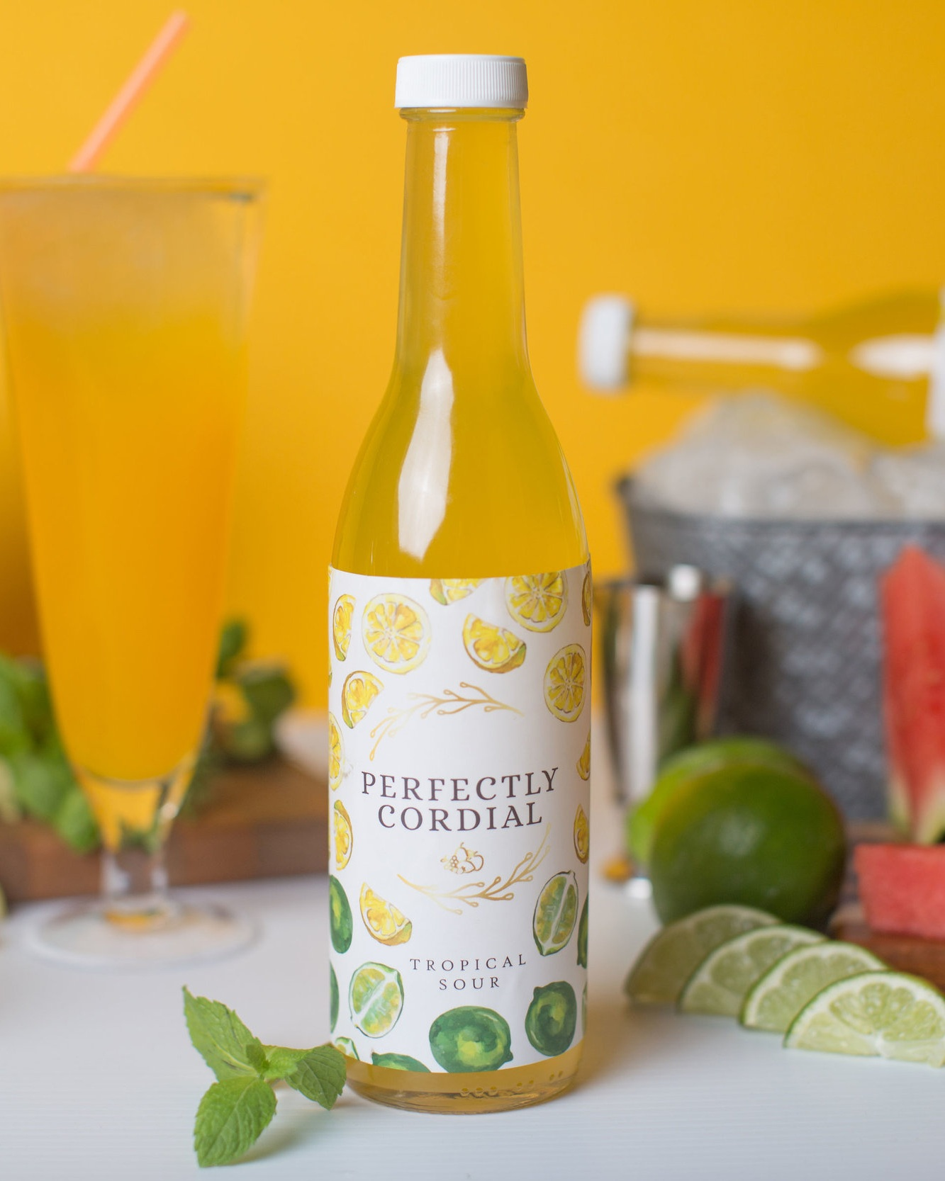 Tropical Sour - Tropical Sour or the best thing to have when life gives you lemons: a mix of lemon, Meyer lemon, lime, warm spices, lemon grass, lime leaf & cane sugar.From $14.99-$7.00