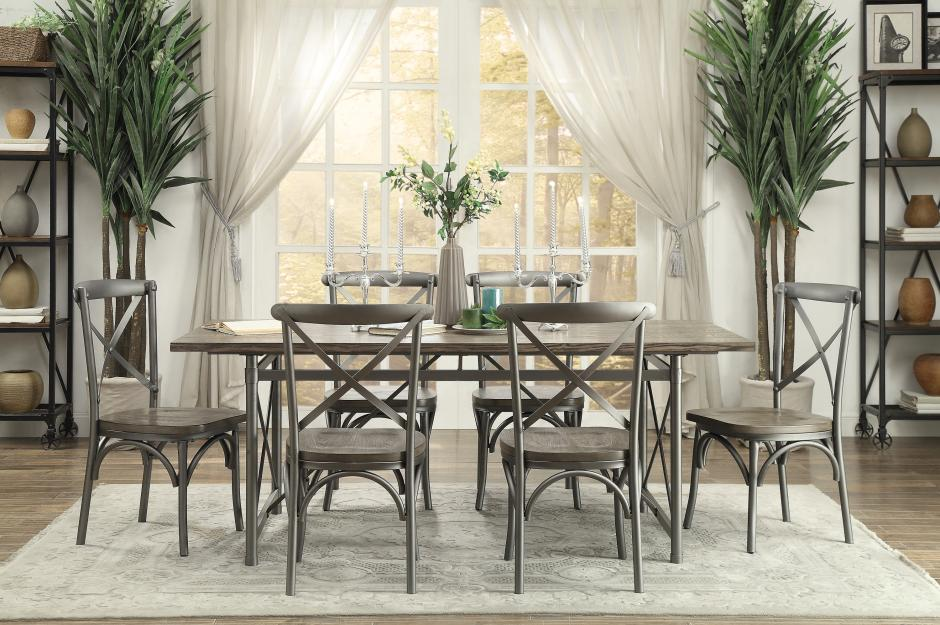 7Pc Dinette Set $599 - Table with 6 Chairs as low as $599