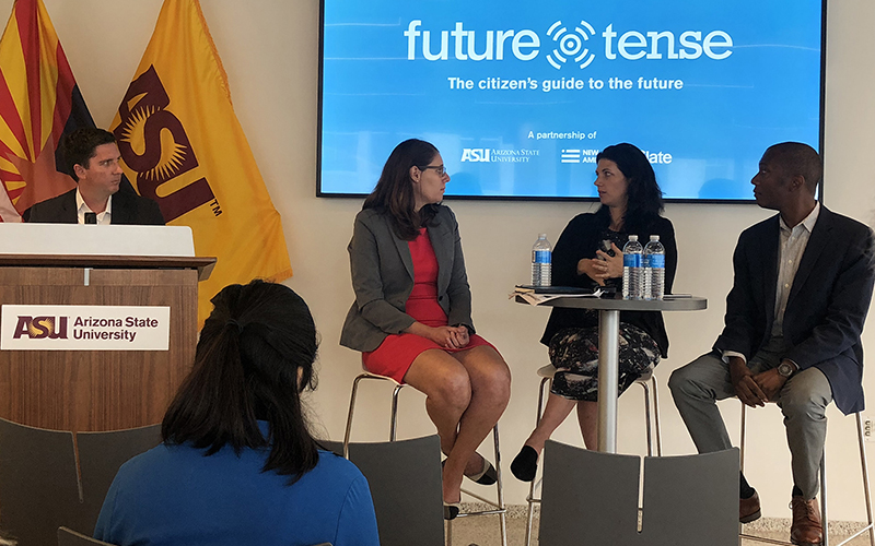 Susana Groves (second from left), Future Tense Panel, 2018
