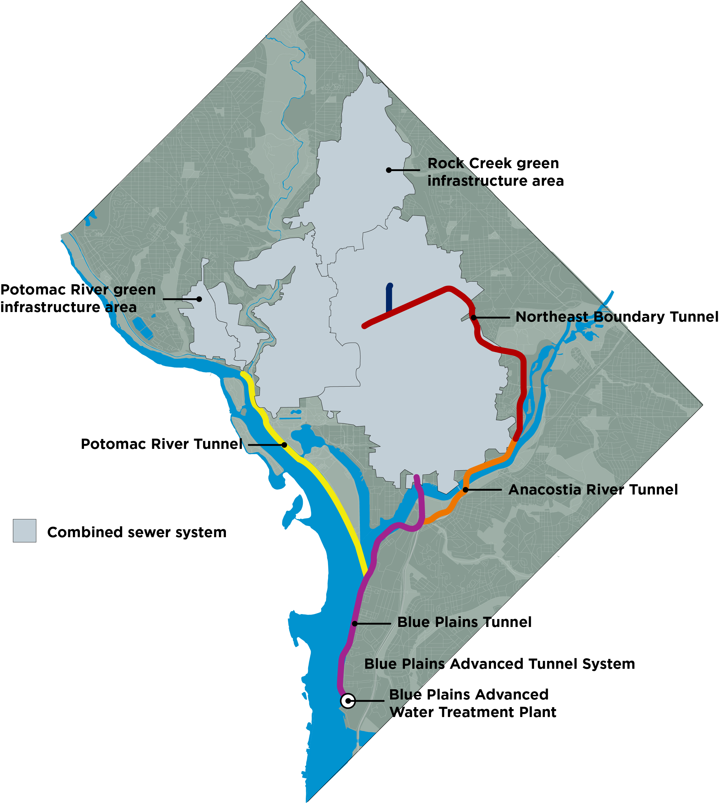 Combined Sewer System (CSS) and the Clean Rivers Project's Tunnel System