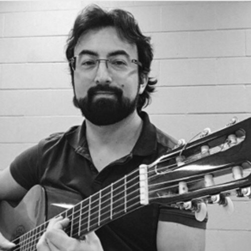 """Aquizamin Garcia     Guitar, Theory Teacher   During more than 15 years of teaching experience I've developed music curricula based on different cultures and music styles. From Rock, Jazz, Pop, to Classical, Tango and Bossa-Nova just to name a few. As a teacher, I'm organized, committed and I take each student as an opportunity to develop individual programs of study.  With more than 20 years of artistic exposure I've had the opportunity to perform in cities such as New York, Venice, Monte-Carlo, Cape Town (SA), Auckland (NZ) and Habana among many others. I've performed in important venues such as """"The Chan Centre"""" in Vancouver and """"Bliblioteca Luis Angel Arango"""" in Bogotá. As artist I've been invited to perform at the Mannes Guitar Semminar in New York, and local events such as the Arts at One concert series at Douglas College, the UBC Alumni Achievement Awards and many concerts sponsored by the Vancouver Health Arts Society.  Playing the guitar has taken me to the most distant and amazing places in the world.Both to real places and places in my own mind.This is precisely why I love to play the guitar:because I can explore a wide variety of music from different cultures, times and places."""