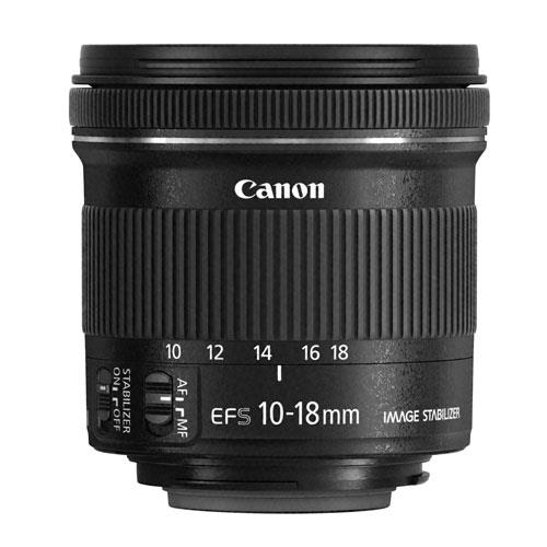 Canon EF-S 10-18mm f/4.5-5.6 IS STM Lens - Perfect for landscape and group shots, this lens is definitely the perfect wide-angle solution, without being too bulky.