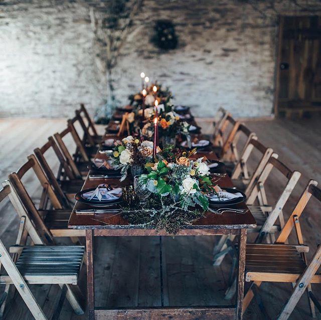 Loved working alongside Tracey from @keepingitvintagedevon and Helen from @thevelvetdaisy  to create a dramatic tablescape on this shoot! ❤️ ⠀⠀⠀⠀⠀⠀⠀⠀⠀ Photographer-  @tobylowe_photography Co-ordinator-  @outoftheordinaryweddings Styling & Decor- @keepingitvintagedevon Flowers- @thevelvetdaisy Rustic furniture- @virginiasvintagehire  Cake- @edibleessense  Stationery- @love.tree.designs  Bridalwear- @elainerawlingsbridal Groomswear -Amanda k Jewellery & Rings- @stephaniestevensjewellery  Accessories- @thelucky6pence  Hair- @redhairliskeard  Makeup- @handsandtans  Model- @_im_beth_