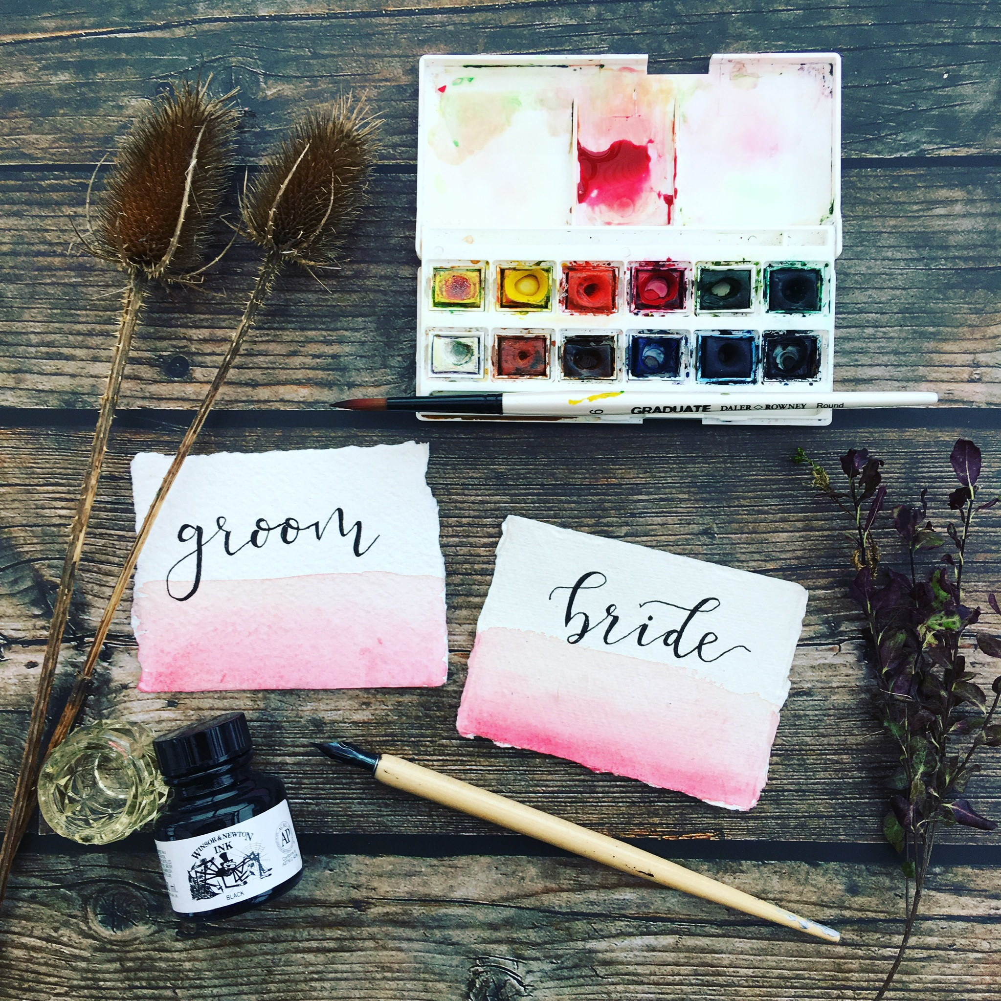 - calligraphy name cards