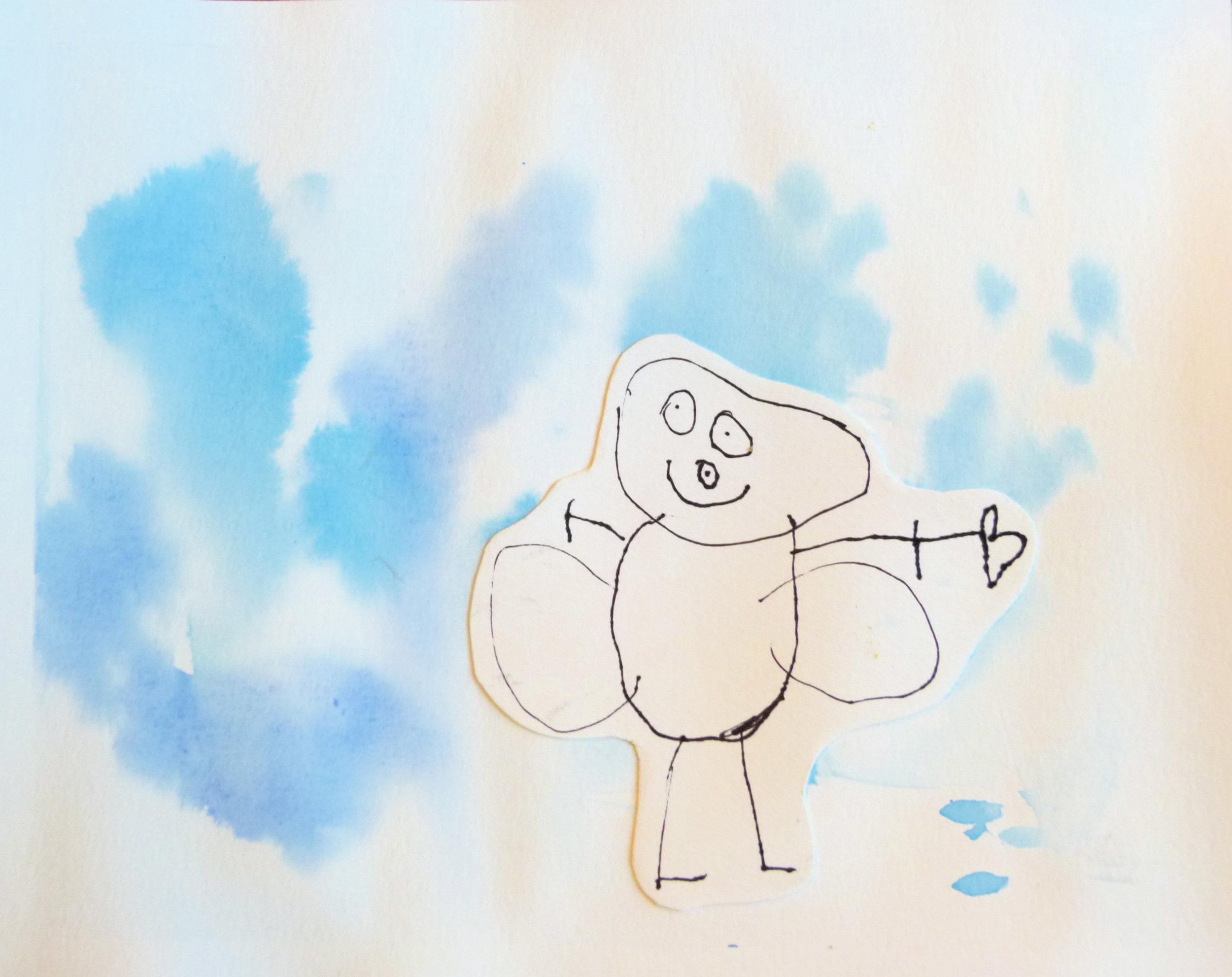Preschool~ Shape Drawing  Watercolour, Pen & Ink