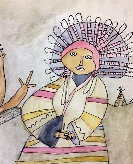"Grade 4~ ""Special Places""  Watercolour, Pen & Ink"