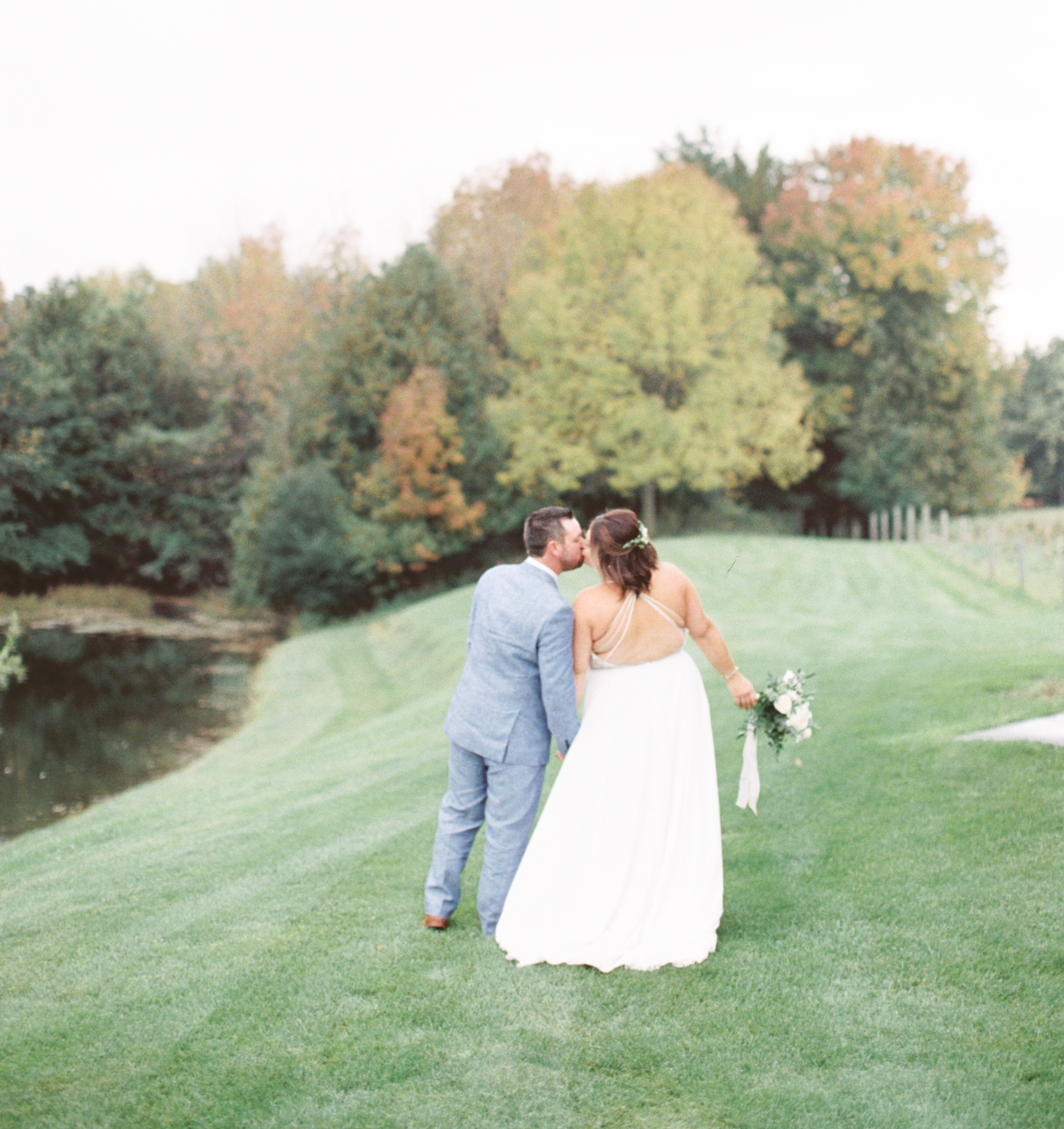 autumn tent wedding - clifford, ontario | real wedding