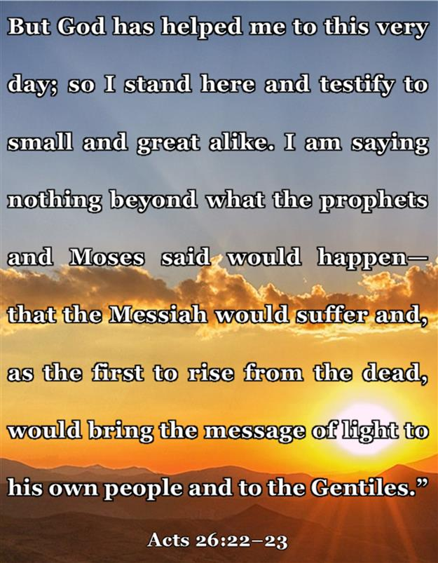 Acts 26:22-23