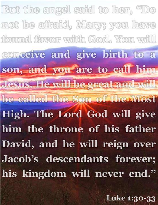 Luke 1:30-33
