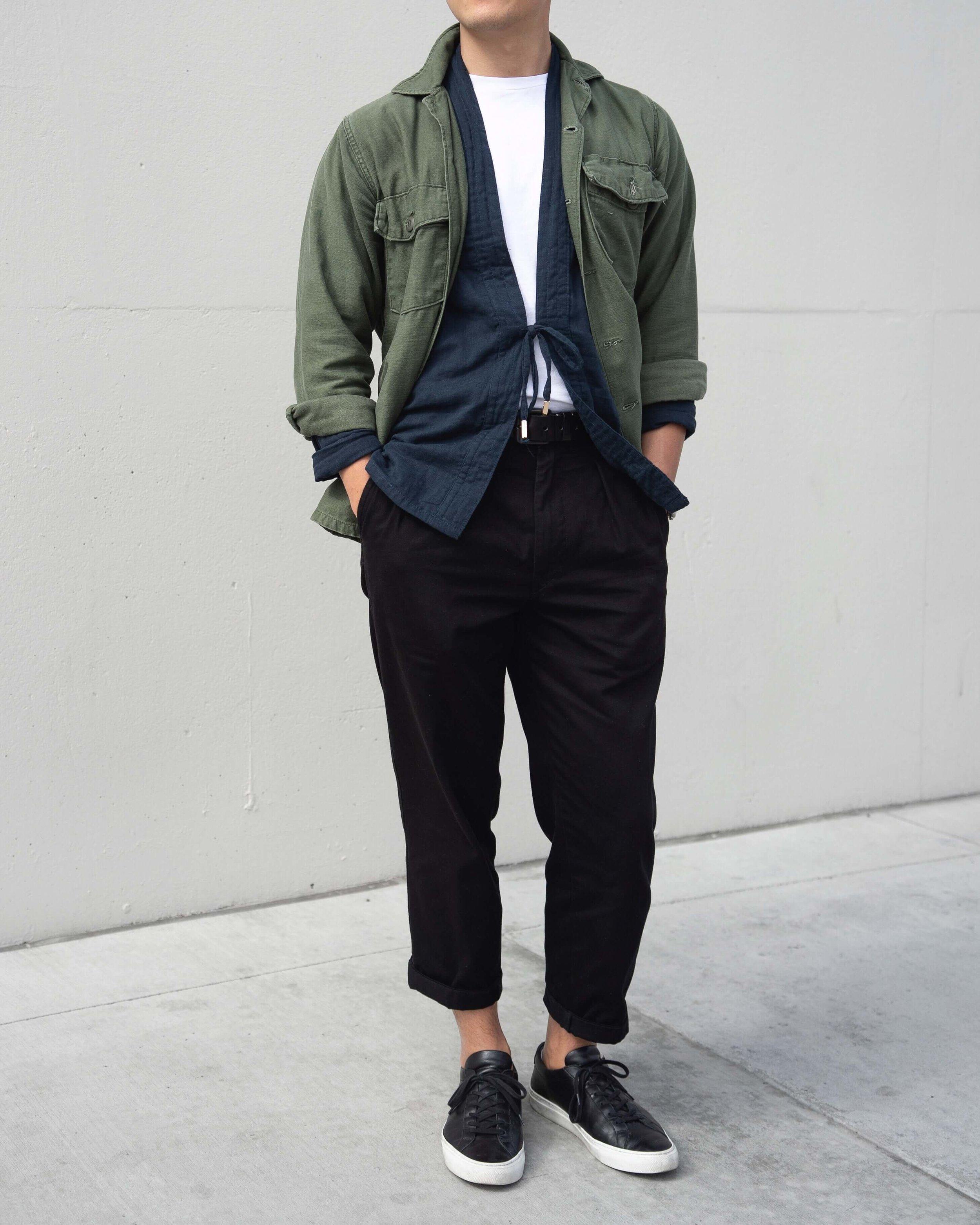 Indigo Noragi Layer Style Japanese Streetwear Jacket AKASHI-KAMA