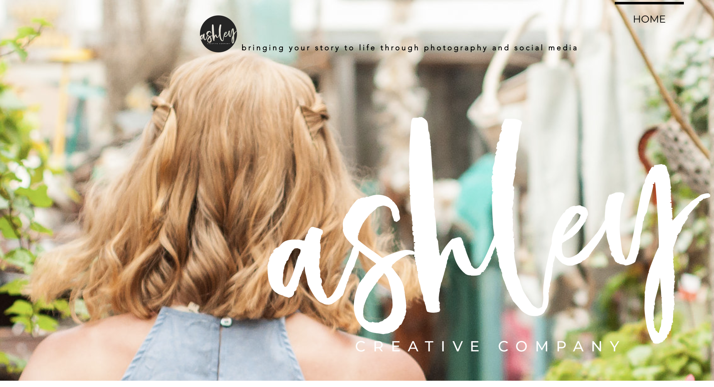 Ashley Creative Company - Your story matters. Ashley focuses on wedding photography, engagement photos, and family portraits and we love working with her.