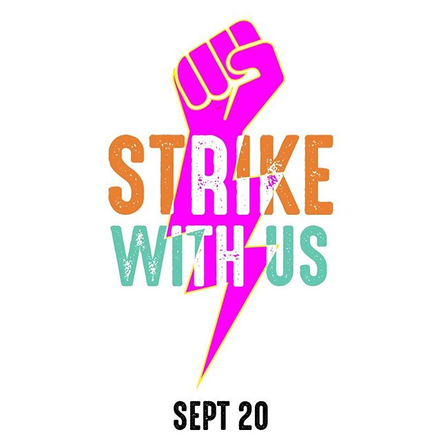 """What are you doing next Friday, September 20th? ~ We are at a crossroads. As a global society we have a decision to make. Will we choose money, power, and business as usual? Or will we choose an equitable, thriving future for all? ~ This strike is an invitation for you to pick a side. Choose humanity, choose the future. As @gretathunberg said, """"protecting the future is not a spectator sport."""" You're either with humanity, or you're with corruption. Now is the time to ACT. ~ So I hope you will come out and #strikewithus on Friday, September 20th for the #climatestrike of our lives. New Yorkers - come out to Foley Square at 12pm and march with us to Battery Park where actions will be ongoing until 5pm. If you're not in NYC - check @globalclimatestrike for details on action in your town ✊"""