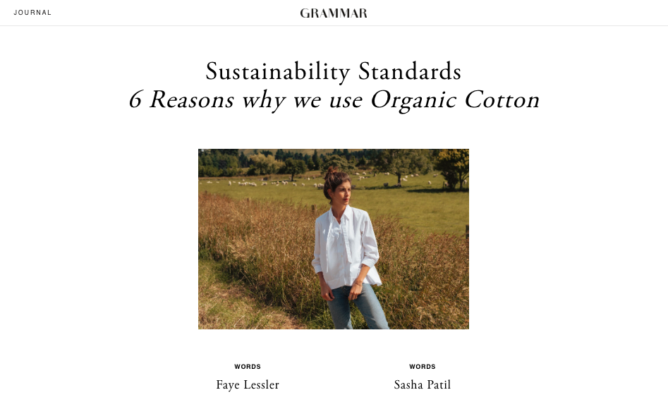 "Article titled ""Sustainability Standards"" written for Grammar"