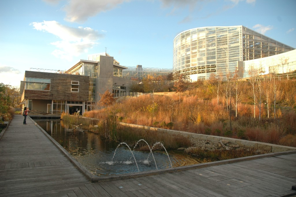The Center for Sustainable Landscapes at the Phipps Conservancy in Pittsburgh, a certified Living Building. Photo Credit: Tim Beatley.