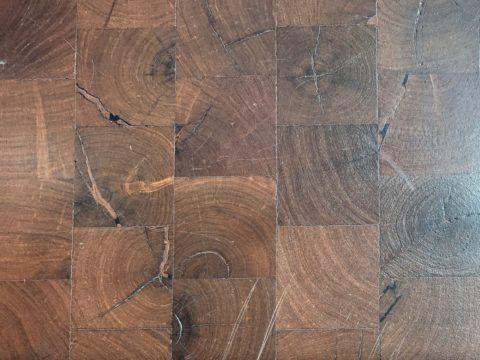 Natural Materials- mesquite flooring. Photo Credit: Theresa Cascio.