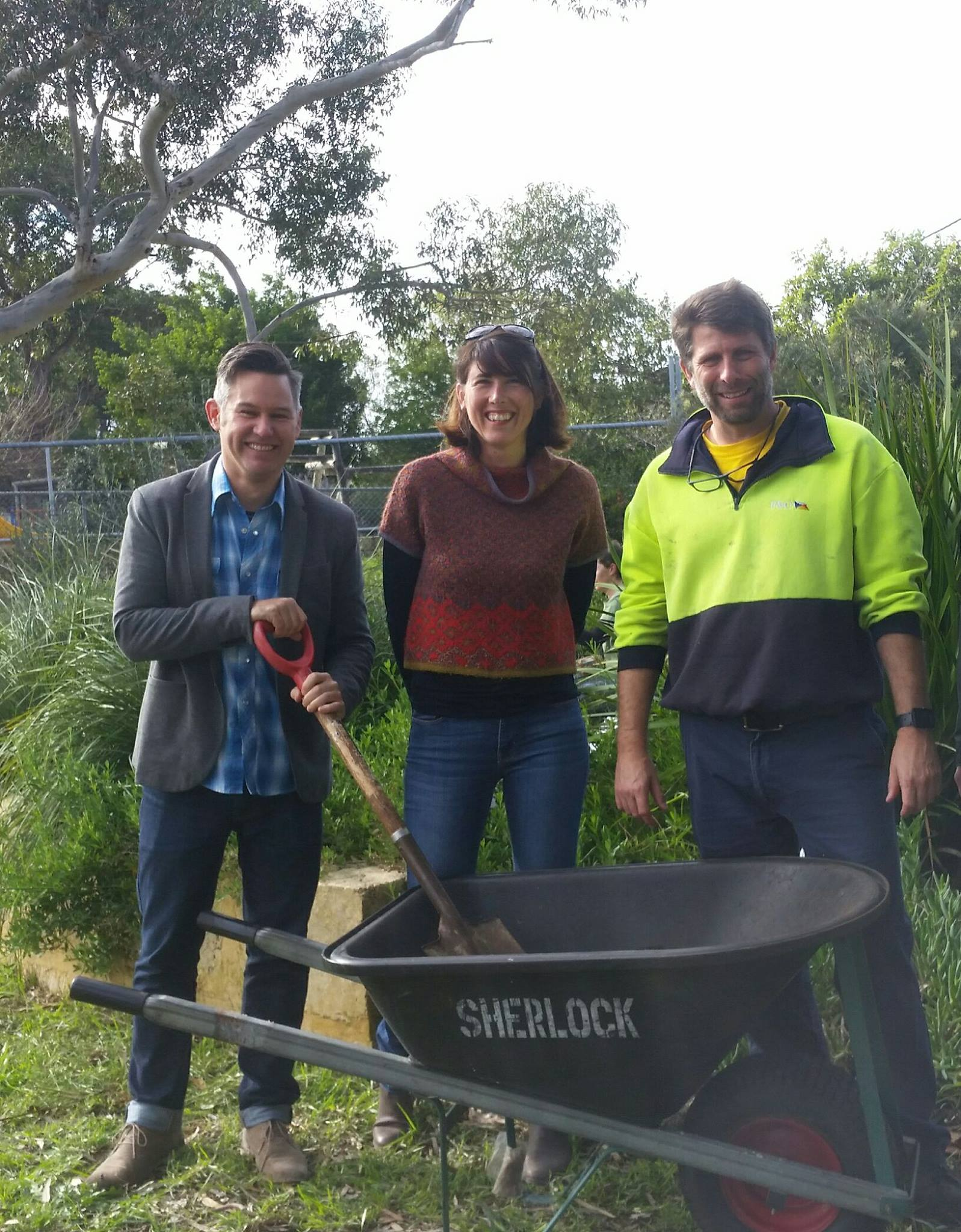 Fremantle's Councilors at Hilton Harvest Community Garden
