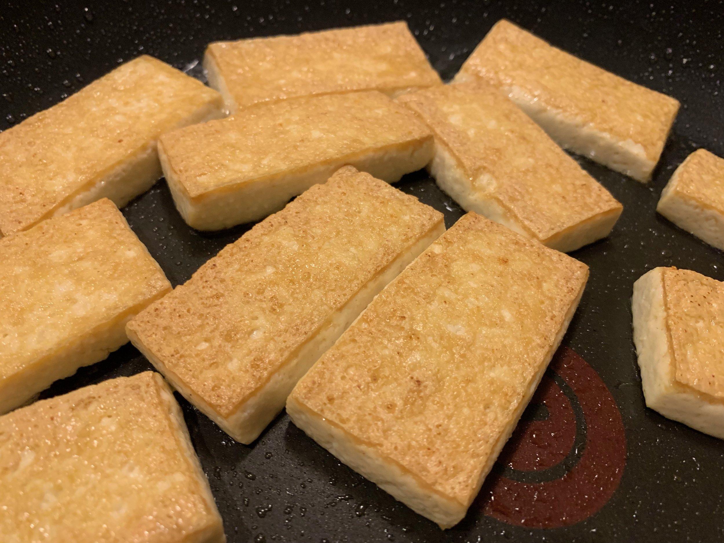 Pan Fried Tofu Phase Changes