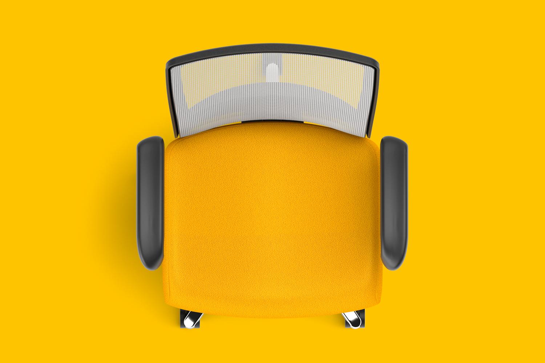 02_Staples Workplace Series Task Chair Goldenrod Overhead.jpg