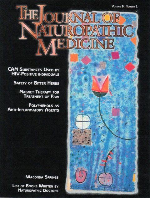 "The Journal of Naturpathic Medicine, vol 9, #1, 2000    ""Disembodied Lotus""  : cover art"