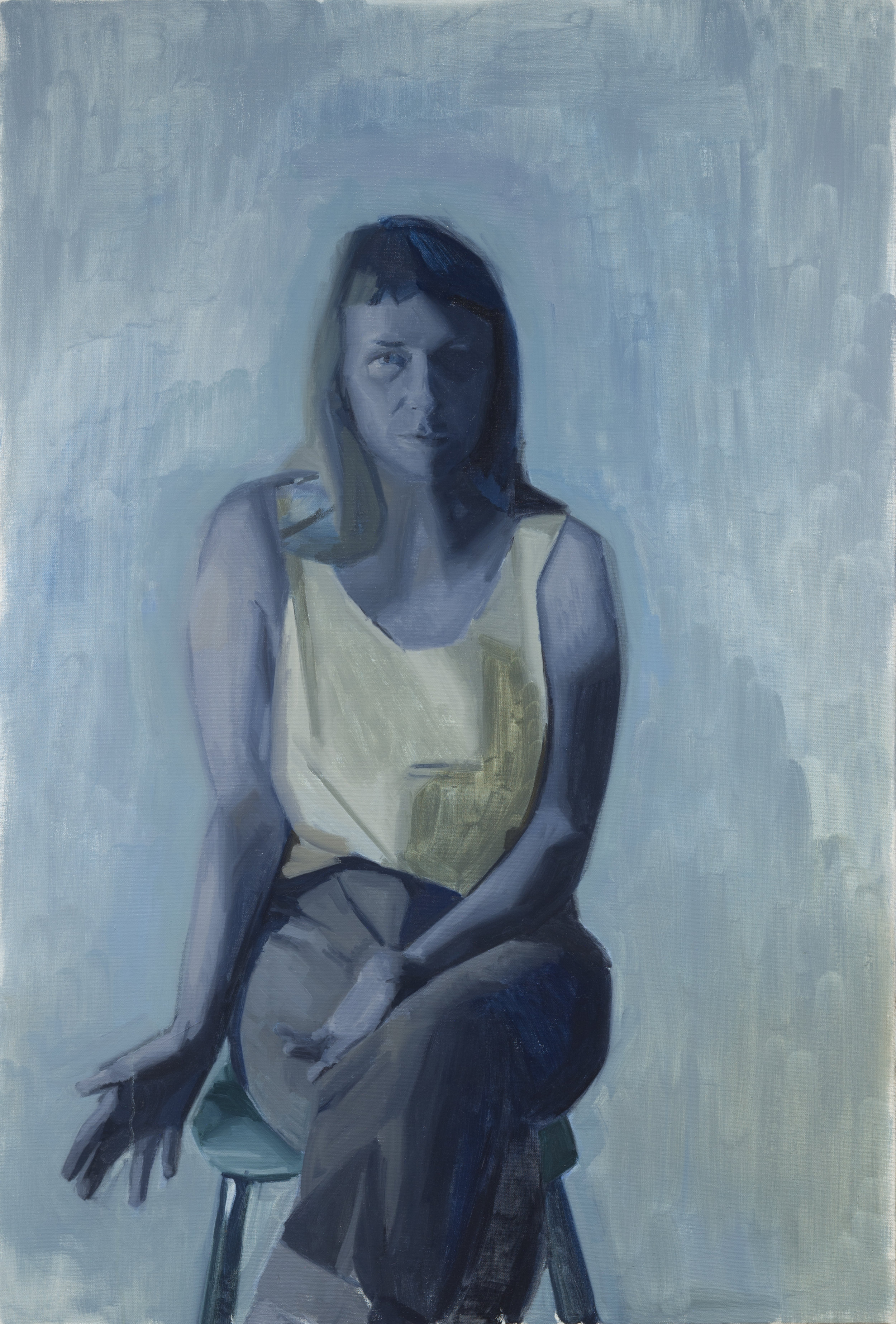 """Untitled (blue)    Oil on linen  51"""" x 34"""""""