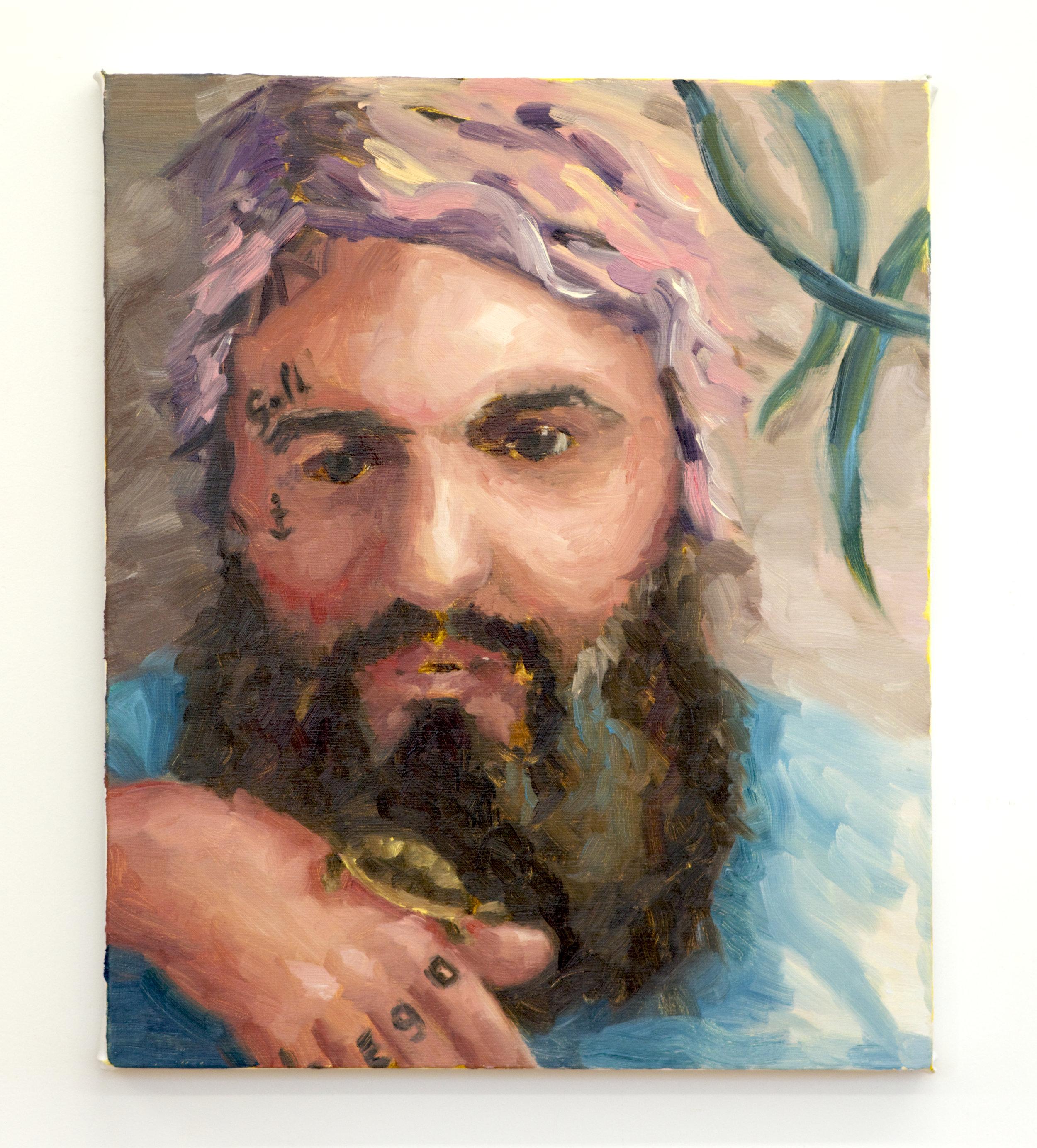 """Le Go    Oil on canvas  24"""" x 20"""""""