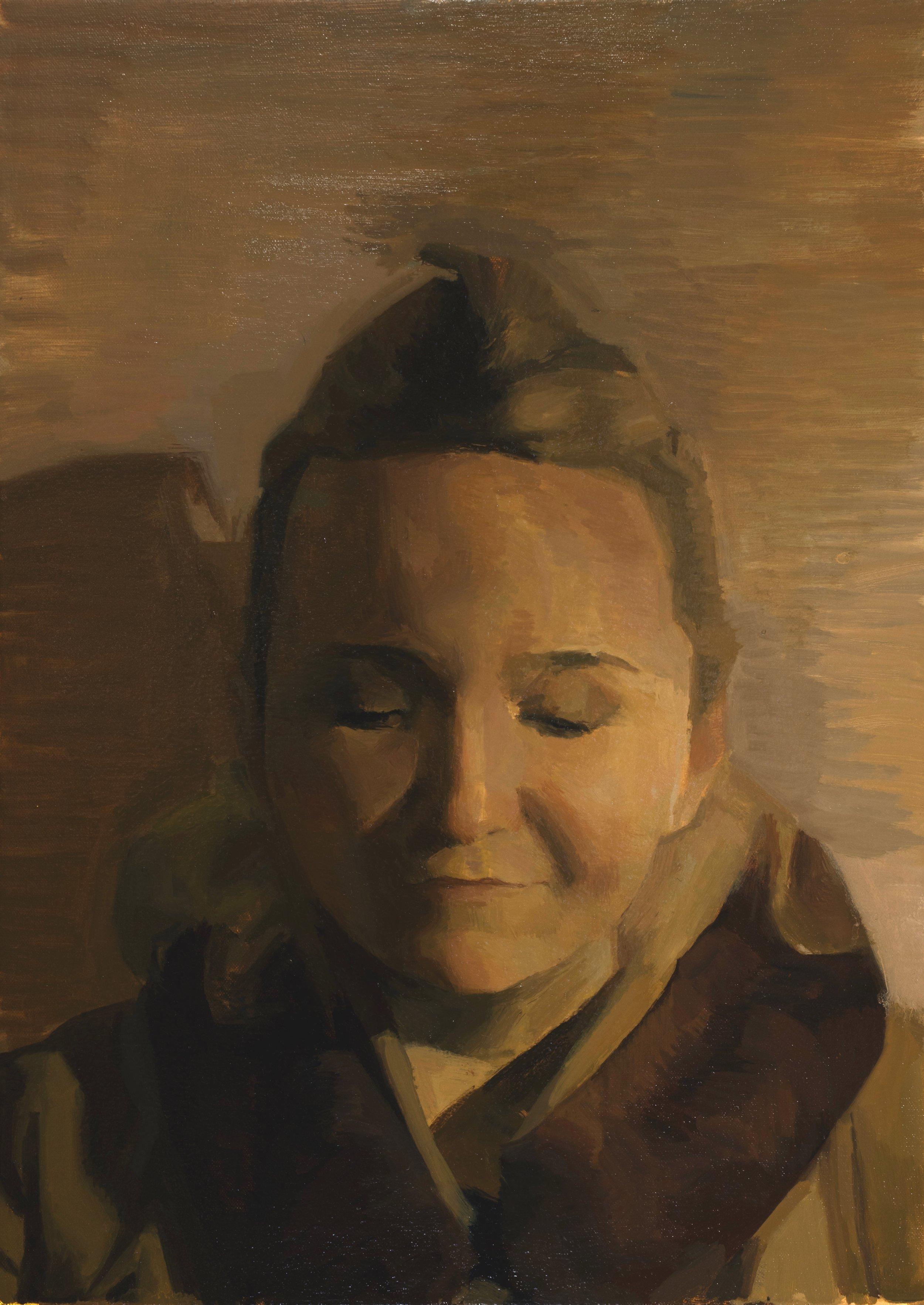 Chloe:Night Portrait, Oil on Canvas, 17 x 24 in..jpeg