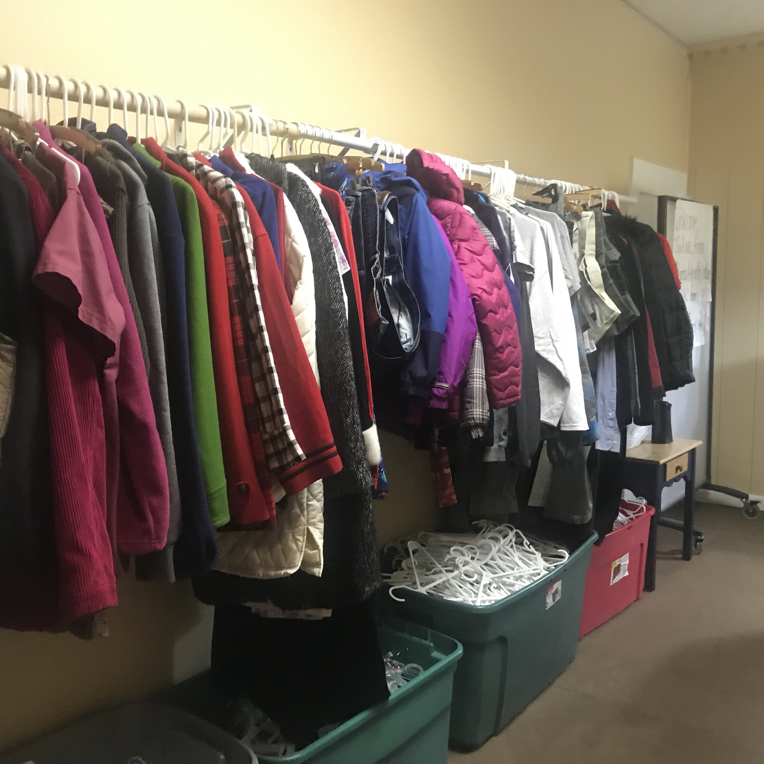 Warm staples are a huge help to the community in need.