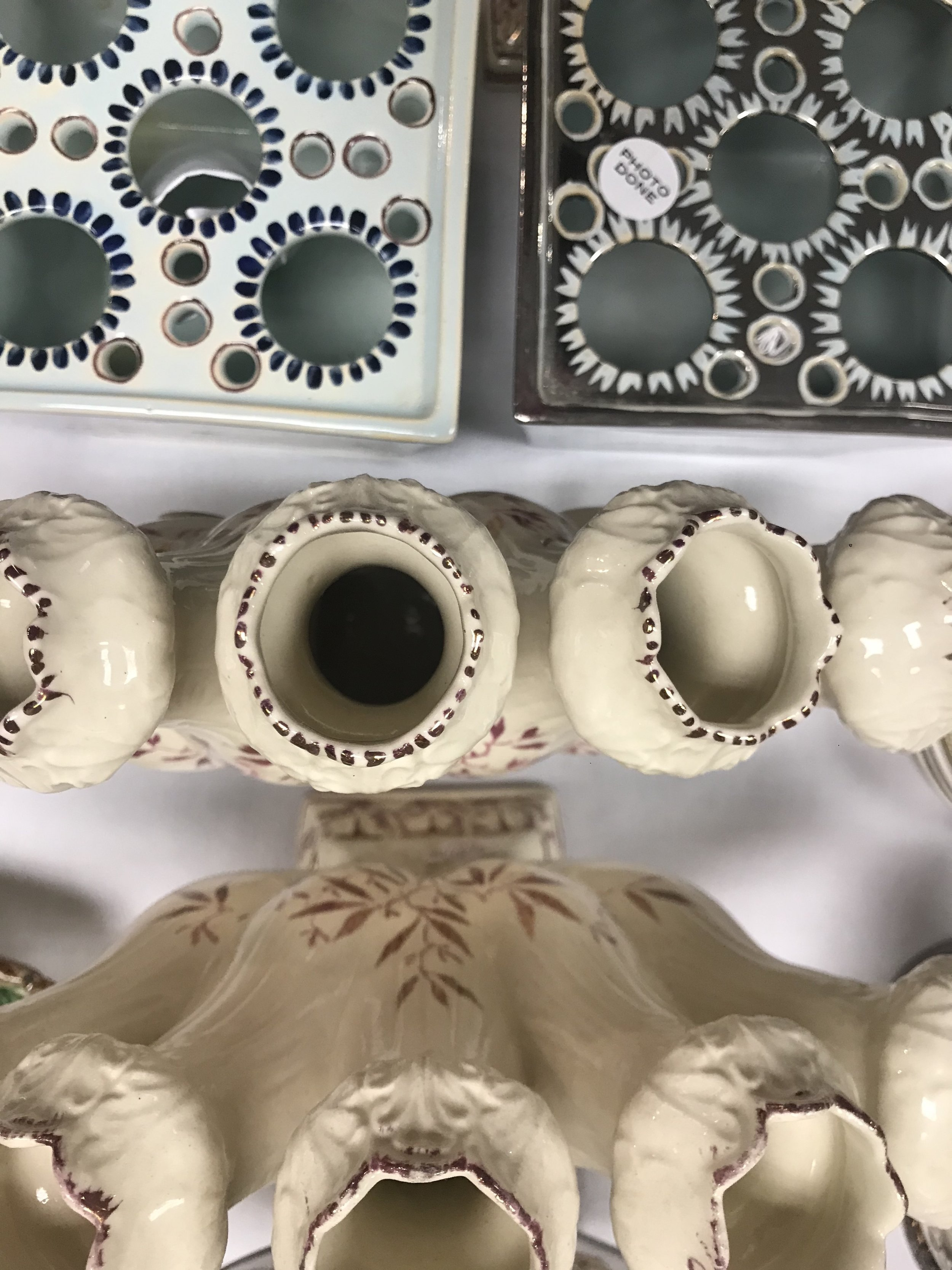 Up close and personal with some Palin Thorley Williamsburg Resoration Lustre Items.