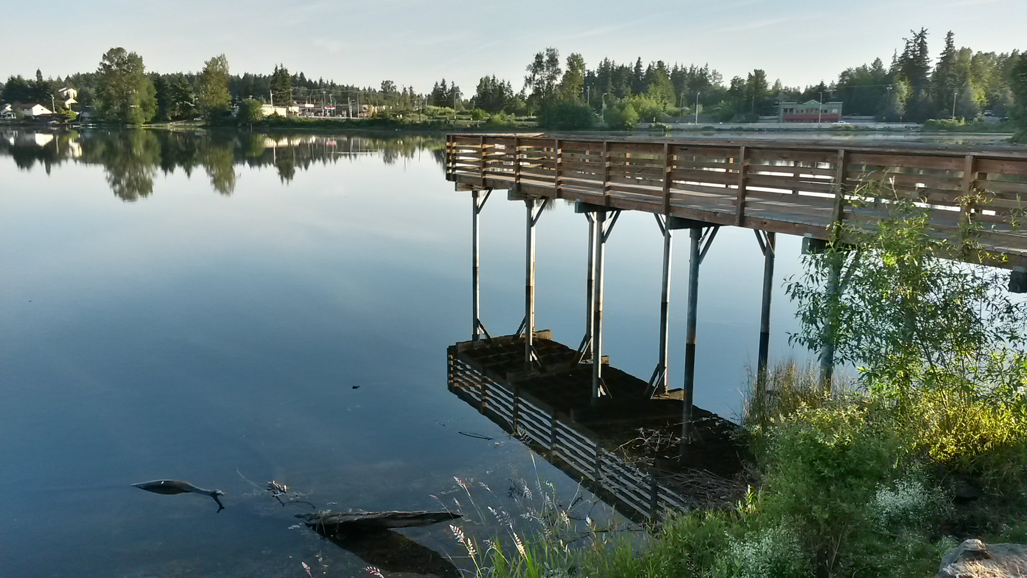 A dock at Silver Lake // Christopher Bragg