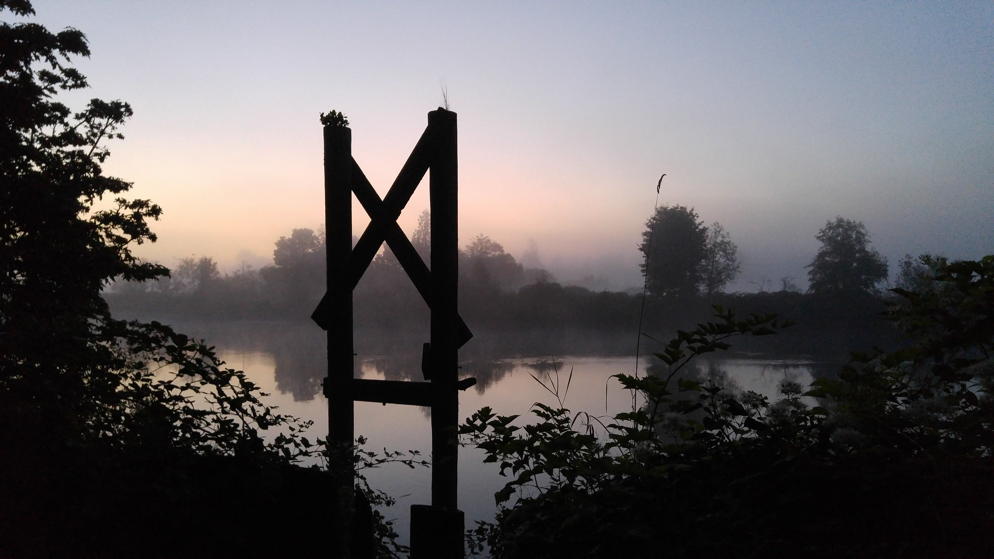 The Lowell Riverfront Trail at dawn // Christopher Bragg