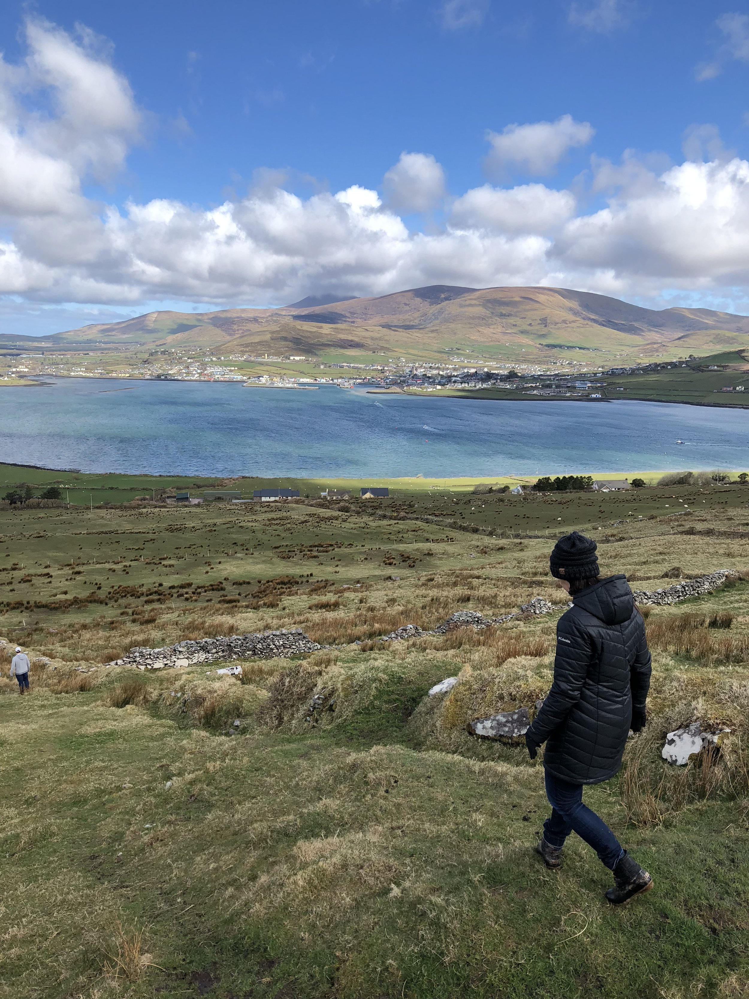 Traveling is more than checking off the sites. This hike through a sheep pasture on the Dingle Peninsula was the most memorable time we had in Ireland. The view from the top was amazing, the hike was even better, and our conversation with the local farmer afterwards made it amazing!