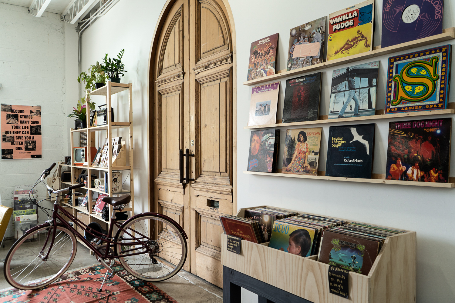 Rust & Wax has a wide selection of vinyl records.
